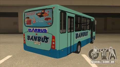 BANBUS Bus Srb. para GTA San Andreas vista direita