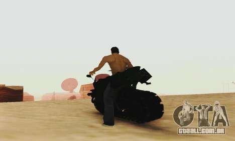 Mercenaries 2 Panzercycle para GTA San Andreas vista traseira