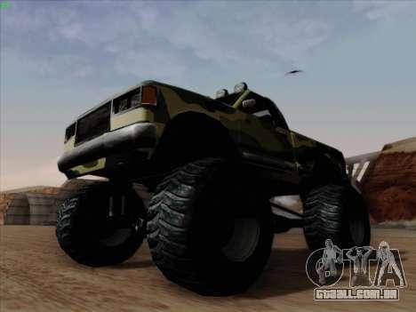 Camuflagem para monstro para GTA San Andreas vista interior