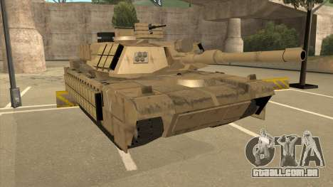 M69A2 Rhino Desierto para GTA San Andreas esquerda vista