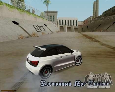 Audi A1 Clubsport Quattro para GTA San Andreas vista superior