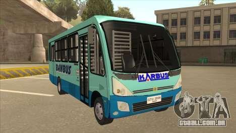 BANBUS Bus Srb. para GTA San Andreas esquerda vista