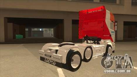 Scania R620 Nis Kamion para GTA San Andreas vista direita