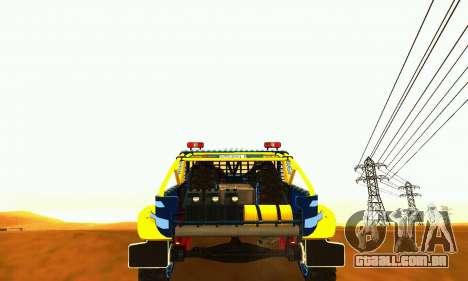 UAZ 31514 Rally para GTA San Andreas vista traseira