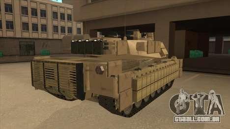 M69A2 Rhino Desierto para GTA San Andreas vista direita