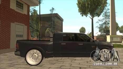Dodge Ram Laramie Low para GTA San Andreas traseira esquerda vista