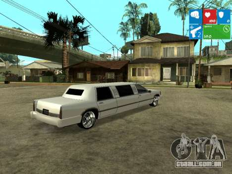 New Stretch para GTA San Andreas traseira esquerda vista