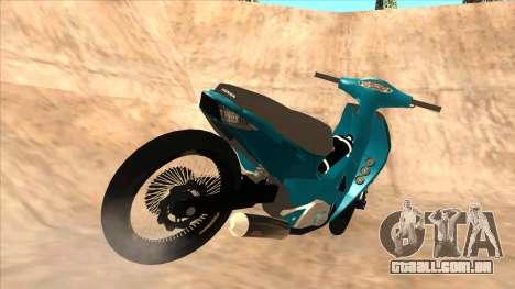 Honda 125cc Tuning para GTA San Andreas traseira esquerda vista