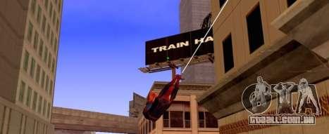 Homem aranha está voando na Web para GTA San Andreas segunda tela
