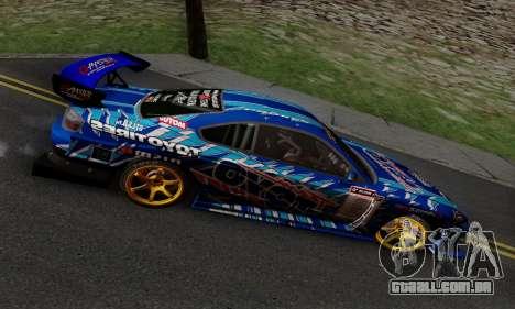 Nissan Silvia S15 Toyo Drift para GTA San Andreas vista interior