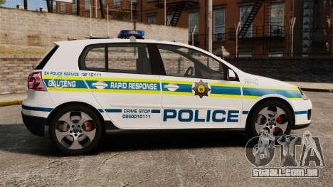 Volkswagen Golf 5 GTI Police v2.0 [ELS] para GTA 4 esquerda vista