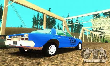 Fasthammer Taxi para GTA San Andreas vista direita