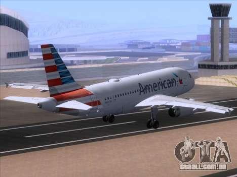 Airbus A319-112 American Airlines para GTA San Andreas vista interior