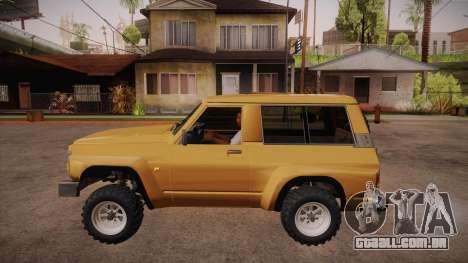 Nissan Patrol Y60 para GTA San Andreas esquerda vista