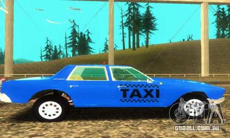 Fasthammer Taxi para GTA San Andreas vista interior