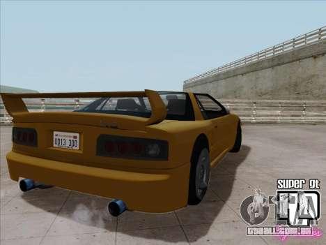 Super GT HD para GTA San Andreas traseira esquerda vista