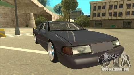 Fortune Drift para GTA San Andreas esquerda vista