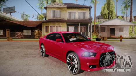 Dodge Charger SRT8 2012 para GTA San Andreas vista traseira