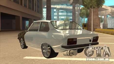 Dacia 1310 Sport Tuning para GTA San Andreas vista traseira