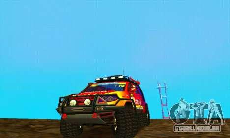 UAZ Patriot julgamento para GTA San Andreas traseira esquerda vista