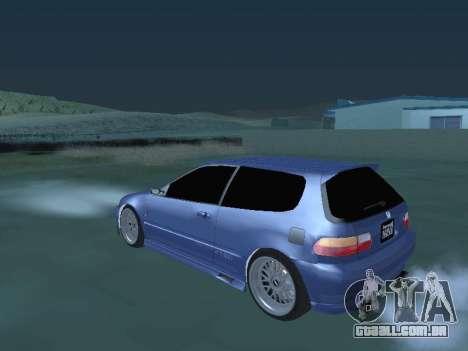Honda Civic (EG6) 1994 para GTA San Andreas traseira esquerda vista