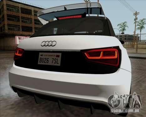 Audi A1 Clubsport Quattro para GTA San Andreas vista direita