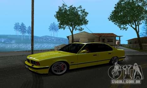 BMW M5 E34 IVLM v2.0.2 para GTA San Andreas esquerda vista
