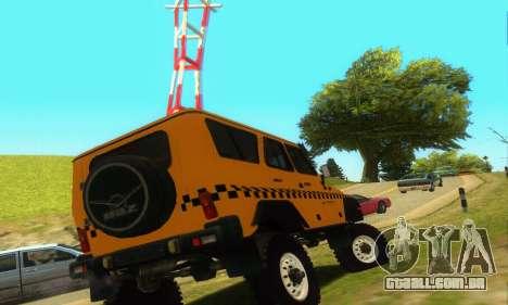 UAZ Hunter táxi para GTA San Andreas vista direita