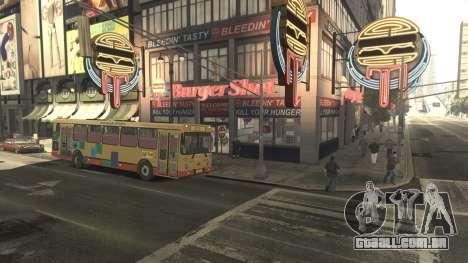 Escola LIAZ 5256.45-01 para GTA 4 vista de volta