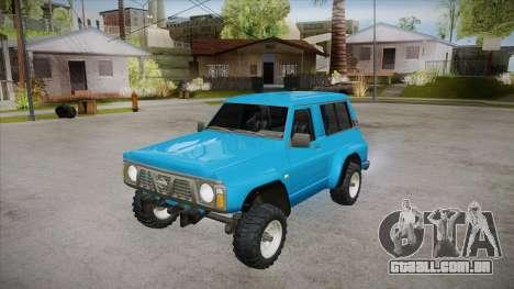 Nissan Patrol Y60 para GTA San Andreas vista superior