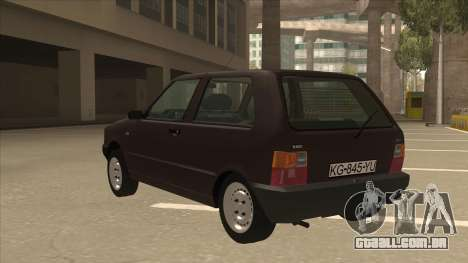 Yugo Uno 45 R 1994 para GTA San Andreas vista traseira