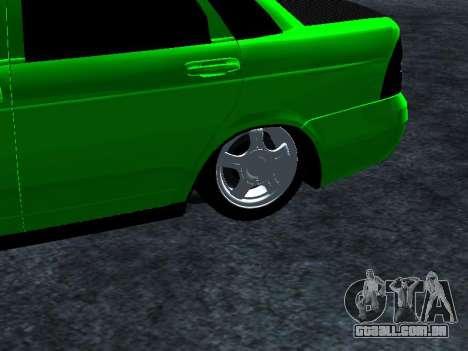 Lada Priora Carbon Lux para GTA San Andreas vista direita