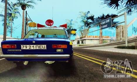 VAZ 21011 Propaganda para GTA San Andreas vista traseira