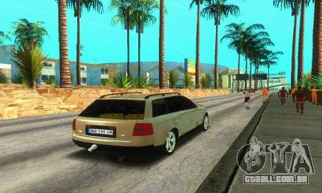 Audi A6 (C5) Avant para GTA San Andreas vista direita