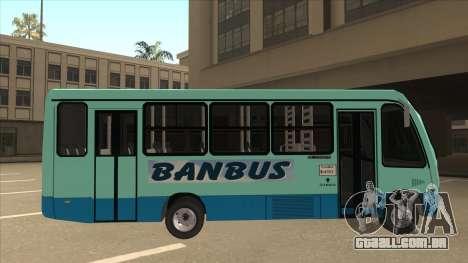 BANBUS Bus Srb. para GTA San Andreas traseira esquerda vista