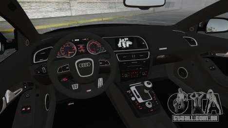 Audi RS5 2011 v2.0 para GTA 4 vista superior