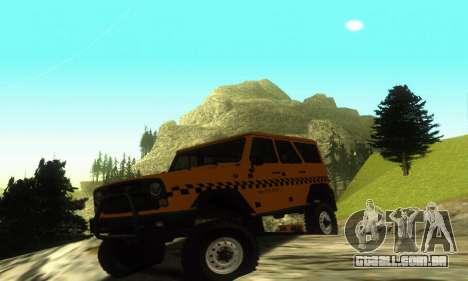 UAZ Hunter táxi para GTA San Andreas esquerda vista