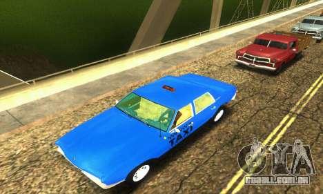 Fasthammer Taxi para GTA San Andreas vista superior