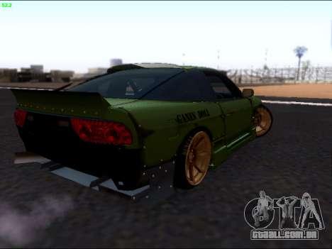 Nissan 180sx Takahiro Kiato para GTA San Andreas traseira esquerda vista