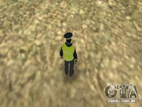 Pele do empregado DPS para GTA San Andreas por diante tela