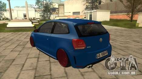 Volkswagen Polo GTi Euro Stance 2012 para GTA San Andreas vista traseira