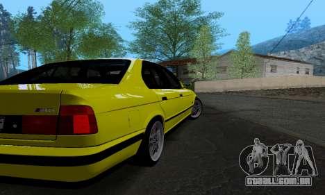 BMW M5 E34 IVLM v2.0.2 para GTA San Andreas vista direita