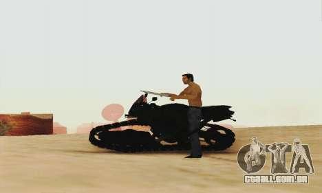 Mercenaries 2 Panzercycle para GTA San Andreas traseira esquerda vista