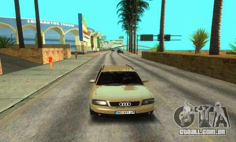 Audi A6 (C5) Avant para GTA San Andreas vista inferior
