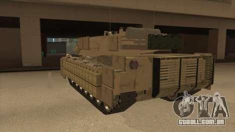M69A2 Rhino Desierto para GTA San Andreas vista traseira