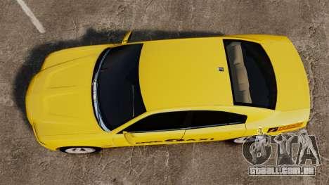 Dodge Charger 2011 Taxi para GTA 4 vista direita