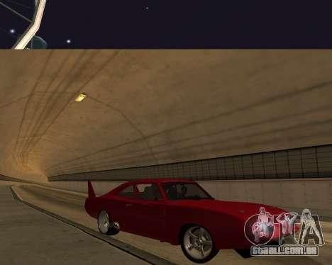 Dodge Charger Daytona para GTA San Andreas vista superior