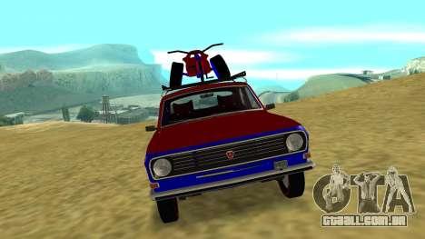 GAZ-24 Volga divertido para GTA San Andreas esquerda vista