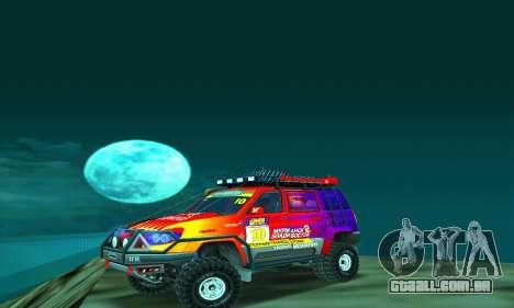 UAZ Patriot julgamento para GTA San Andreas esquerda vista