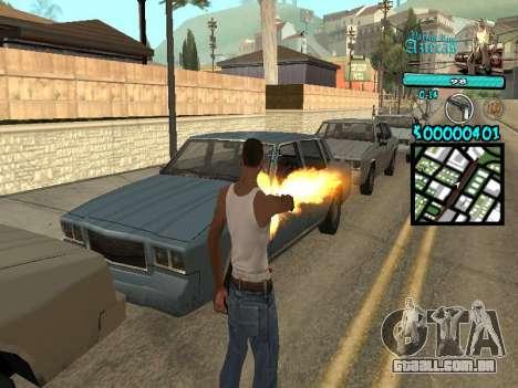 C-HUD by Kerro Diaz [ Aztecas ] para GTA San Andreas segunda tela